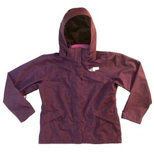 The north face purple jacket with fleece lining